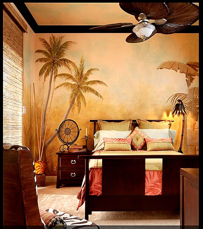 Tropical bedroom...our Tommy Bahama bedding would look amazing with ...