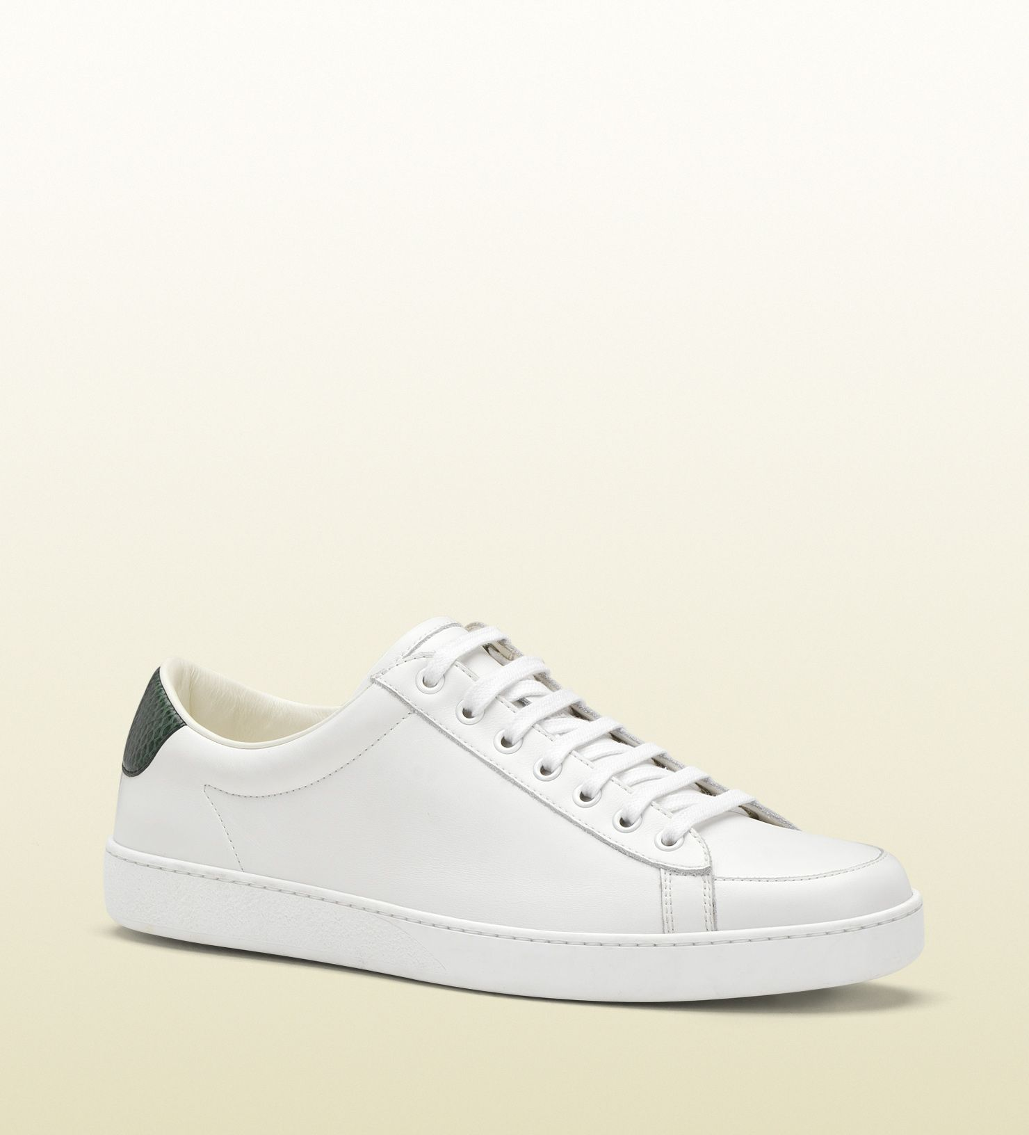 087fc8c7e32fd3 white leather lace-up sneaker