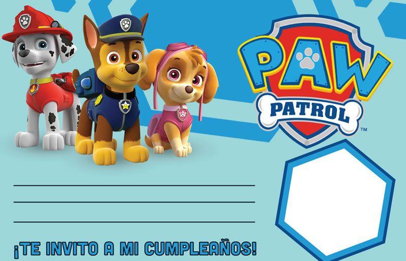La Mejor Selección De Invitaciones De La Patrulla Canina Para Impri Invitaciones De Paw Patrol Invitacion Cumpleaños Patrulla Canina Invitaciones De Cumpleaños