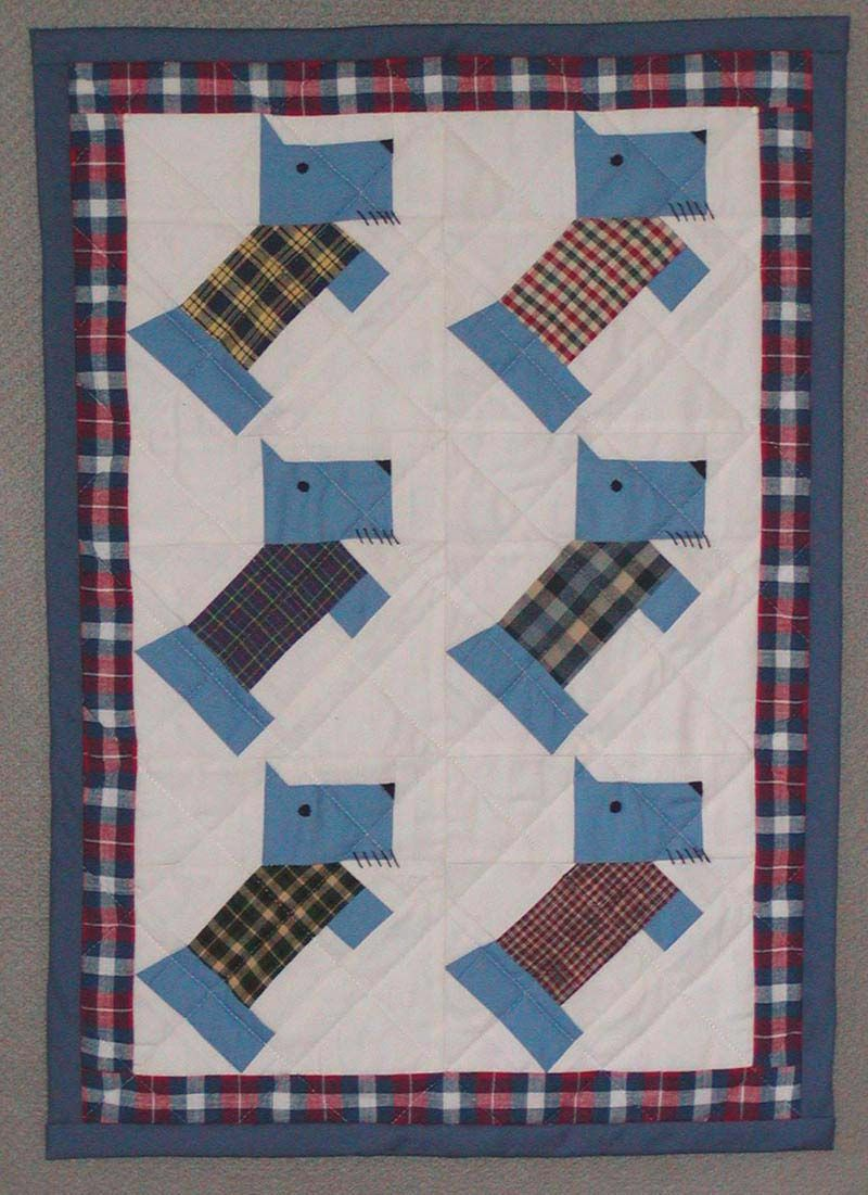 Doll & Baby Scottie Dog Quilt Pattern From the Mid 1900s | Quilt ... : scottie quilt pattern - Adamdwight.com