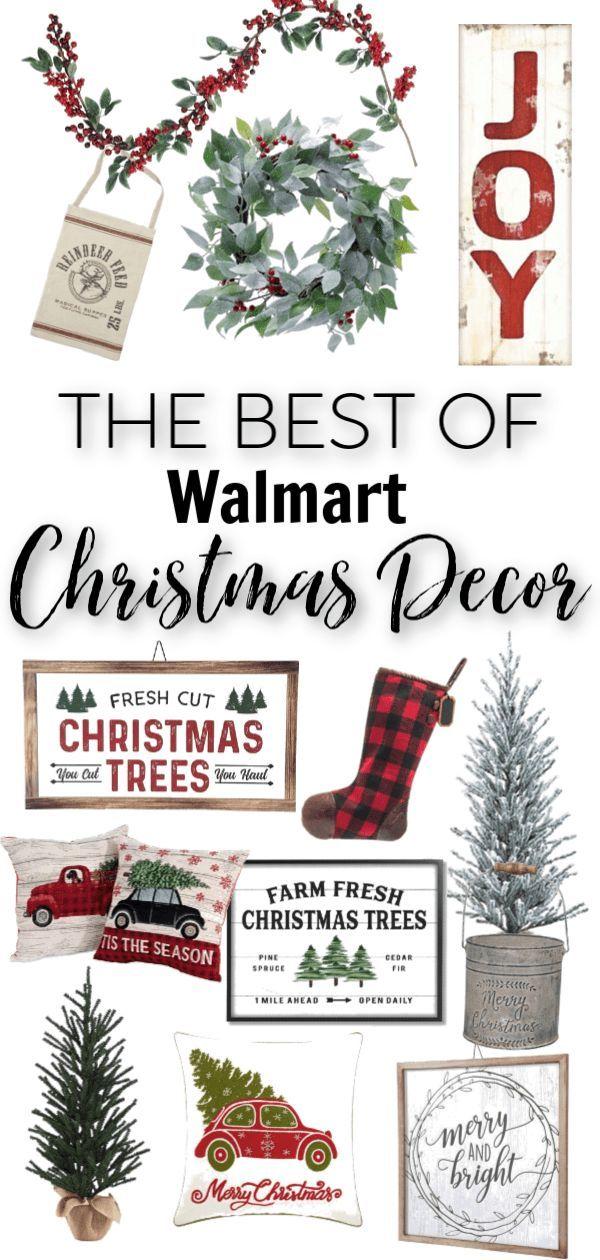 Budget Friendly Christmas Decor at Walmart Christmas