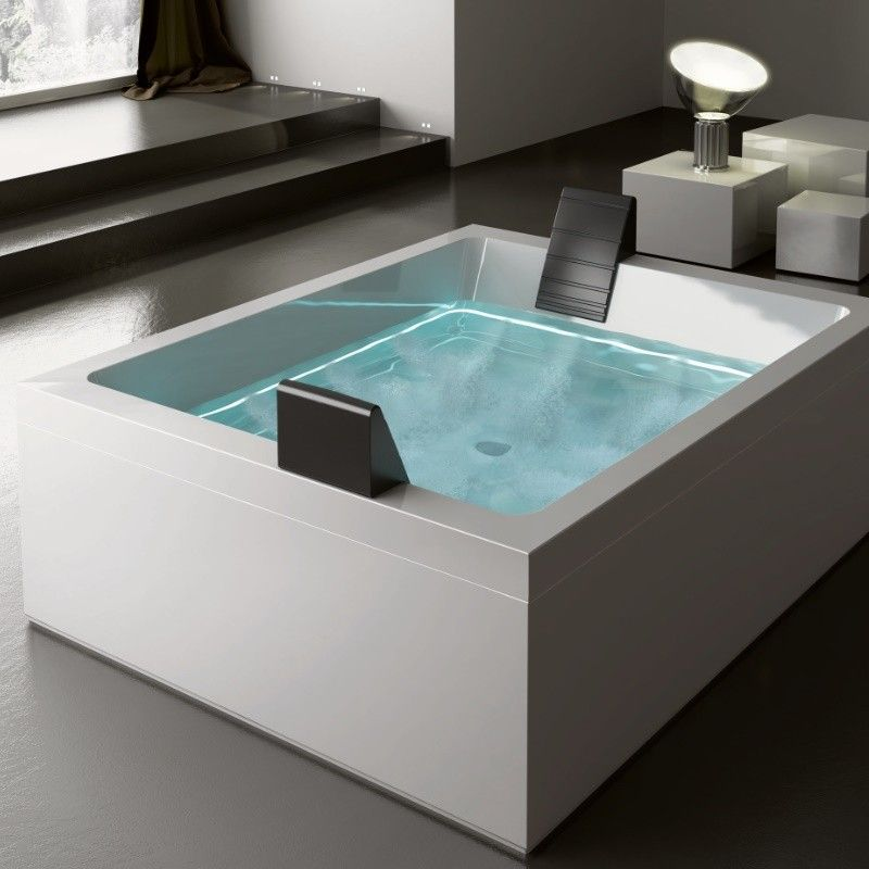 badewanne dream 200 mit ghost system 200x160 - Whirlpool Badewanne Designs Jacuzzi