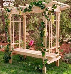 Garden Bench With Trelish   Google Search