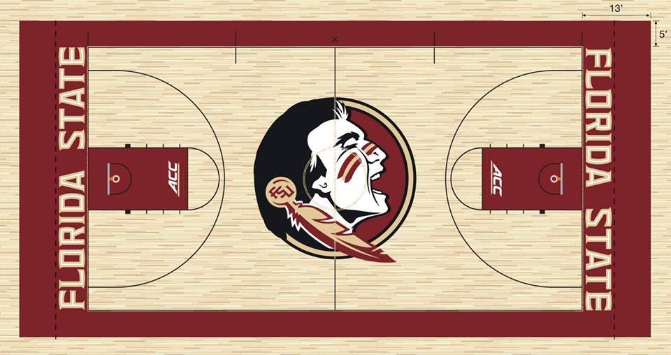 Fsu Basketball Court W New Chief Florida State Florida State University Basketball Floor