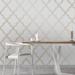 Tempaper Marrakesh Bronze Gray Self Adhesive Removable Wallpaper