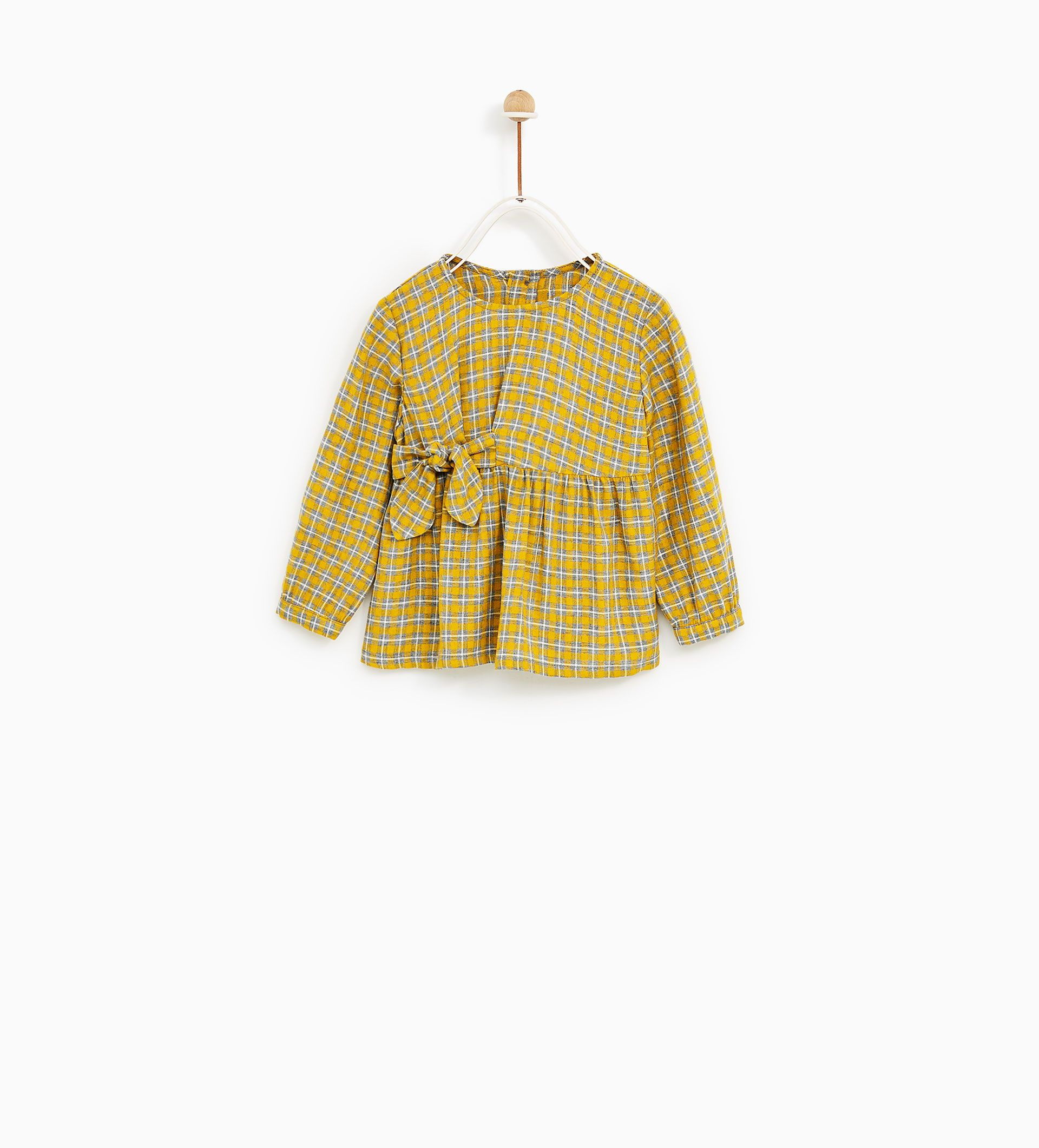 24a08129 Image 1 of CHECK KNOT SHIRT from Zara | Girl fashion | Knotted shirt ...
