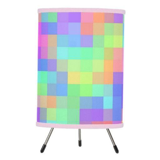 Girly Pastel Abstract Pattern Tripod Lamp @zazzle