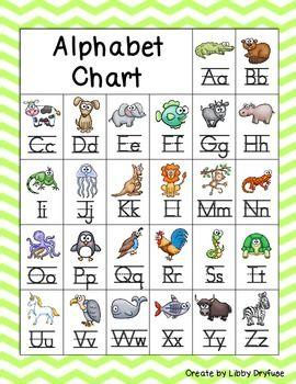 freebie chevron alphabet chart classroom posters. Black Bedroom Furniture Sets. Home Design Ideas