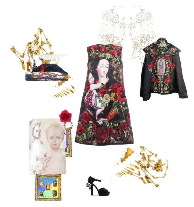 """A Mother's love"" by palmgrass99 ❤ liked on Polyvore featuring Dolce&Gabbana, Versace, Chanel, Givenchy, Piers Atkinson, Accessorize, Laura Cole, Kenzo, Salvador Dali and SANDERSON"