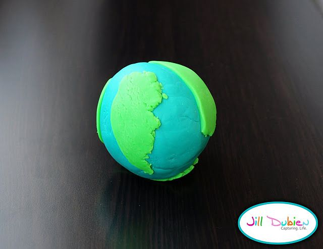 Great idea for Earth Day lessons! An earth made out of clay