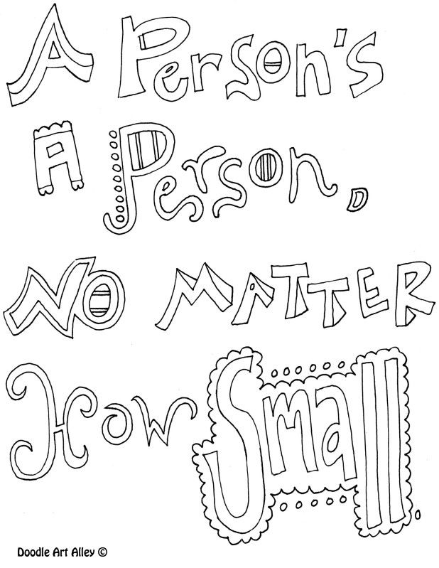 A person's a person, no matter how small Quotes Quote