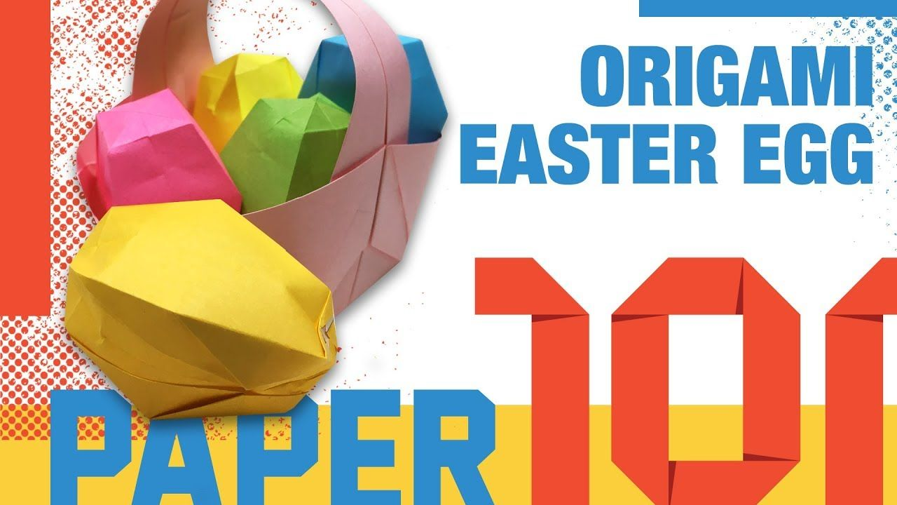 How to make 3d origami Easter egg - YouTube | 720x1280