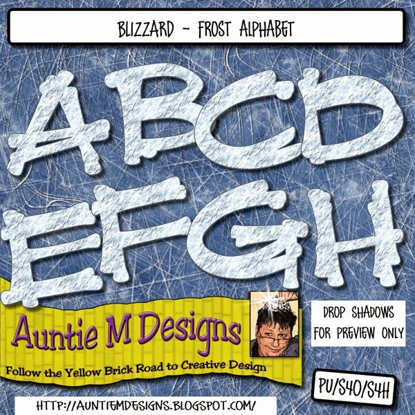 Auntie M Designs: Blizzard Icy Alphabet and Numbers