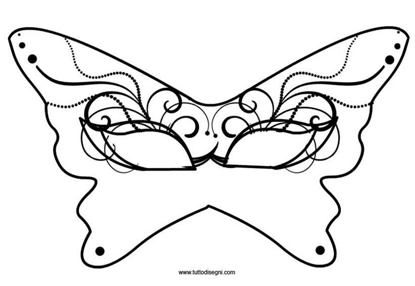Maschera Farfalla 2 Maschere Disegno Di Leone