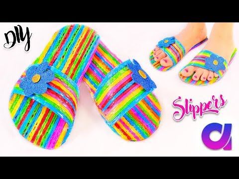 How To Make Drinking Straw Slippers At Home Best Out Of Waste