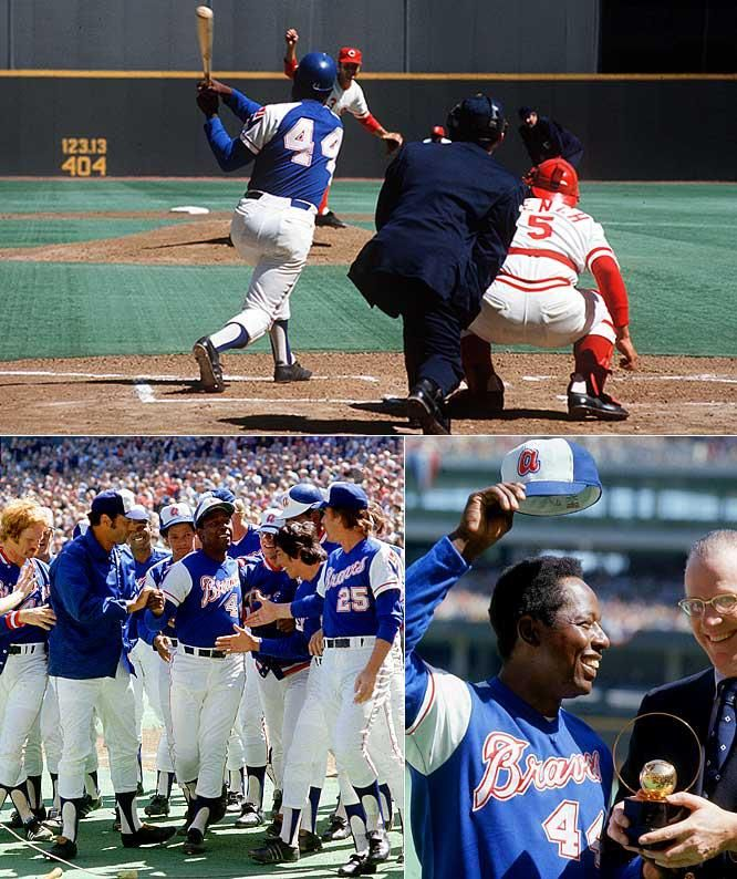 In 1974 Hank Aaron Of The Atlanta Braves Ties Babe Ruth S Home Run Record By Hitting His 714th In Cincinnati Pin Bryan Houston S Sports Radio Live Brave