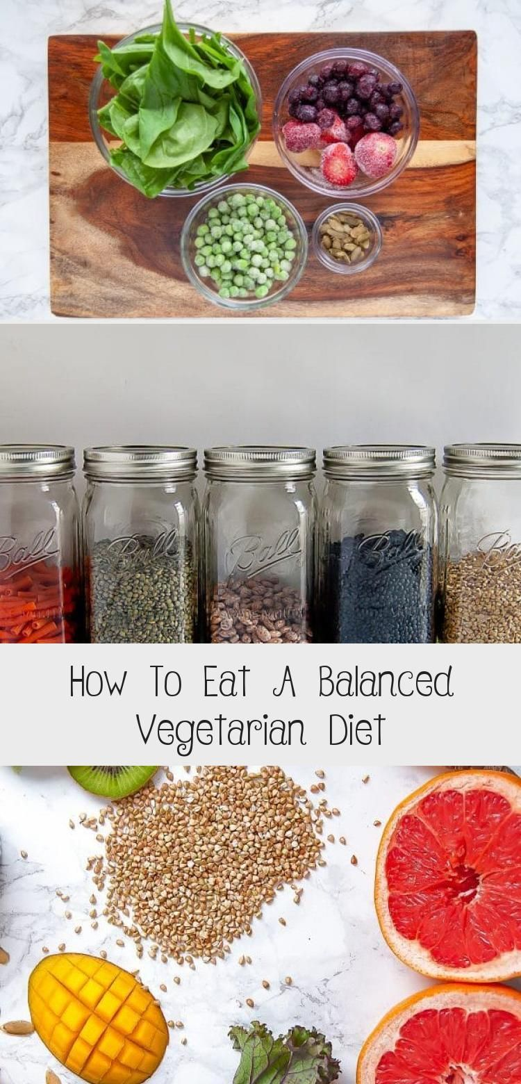 How To Eat A Balanced Vegetarian Diet in 2020 Balanced