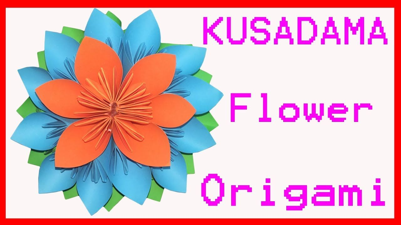 How To Make Origami Kusudama Flower From Paper Craft Diy