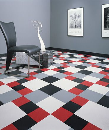 We love these #designer #rubber #tiles by #Roppe Lawson Brothers