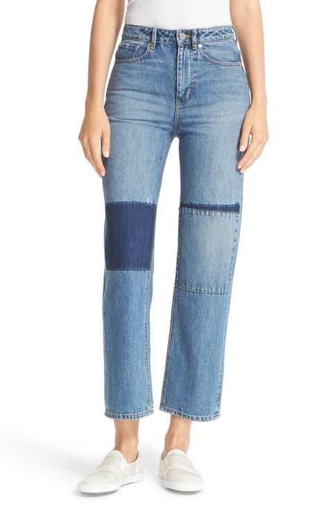 La Vie Rebecca Taylor Anais Crop Wide Leg Jeans (Patch)