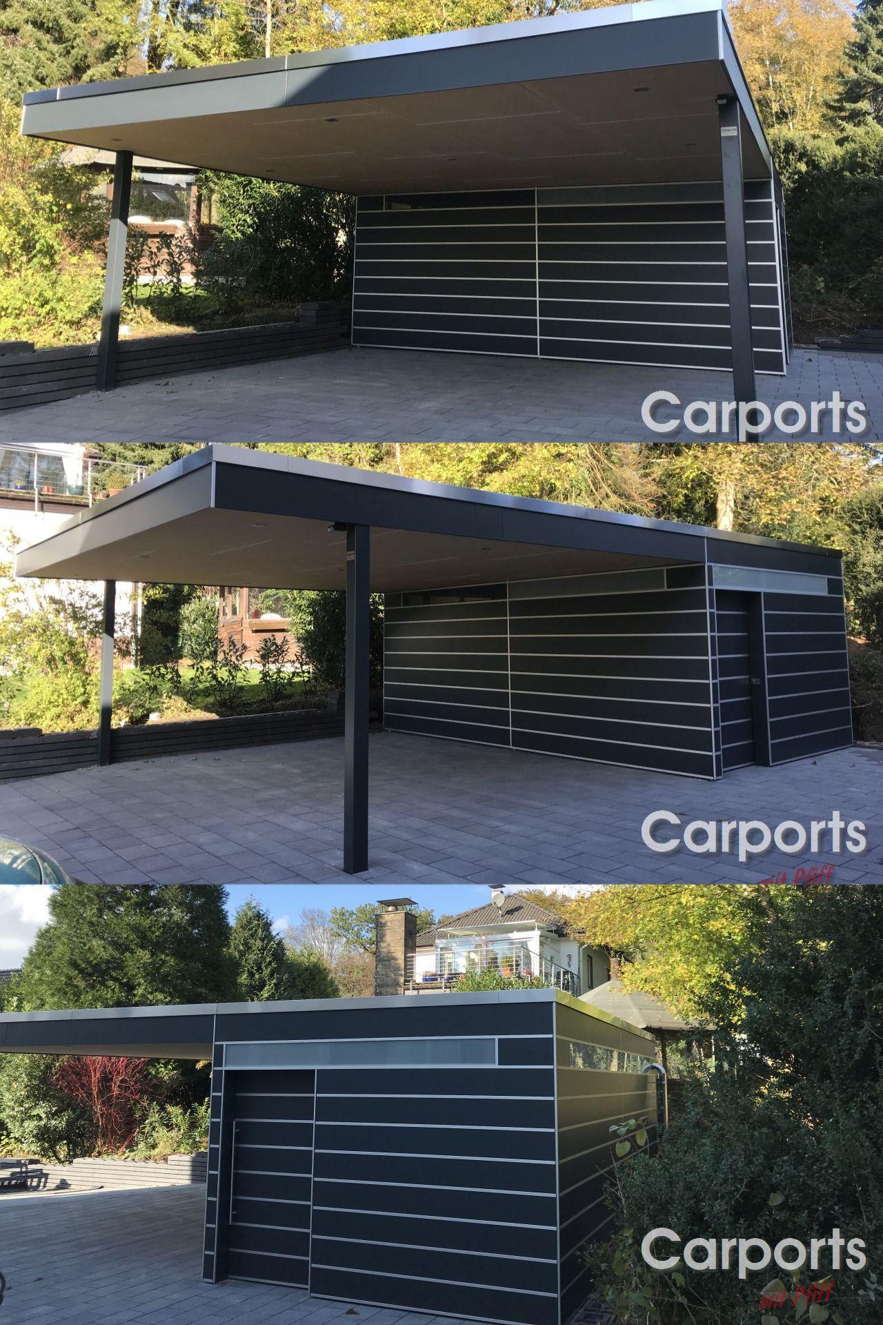 Carport Bauhaus Mit Abstellraum In 2020 Carport Fassade Haus Bauhaus