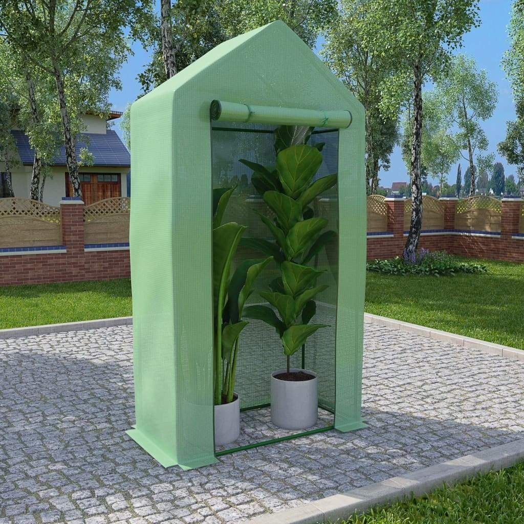 vidaXL Greenhouse with Steel Frame 5.4 ft² 39.4″x19.7″x74.8″