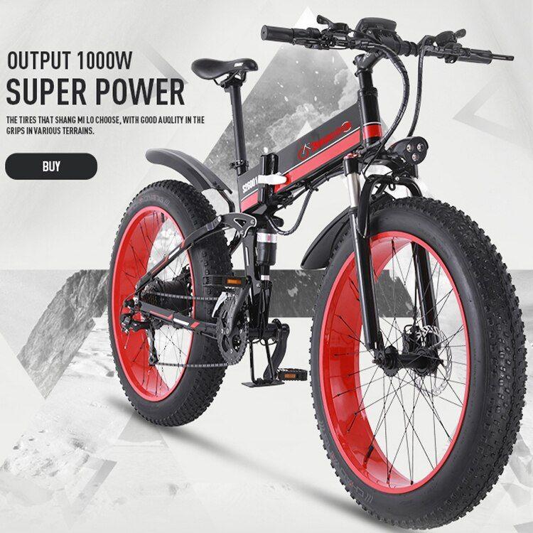 K J 1000w Ebike Electric Atv Black 26 Inch Oil Brake Snowmobile Mountain Bike Mountain Bi In 2020 Electric Bicycle Electric Bike Bicycles Bicycle
