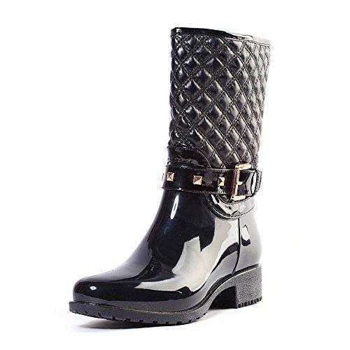 Alexis Leroy Wellies Original Tall - Botas de lluvia para mujer Negro 40 EU / 7 UK odZNMgf0IP