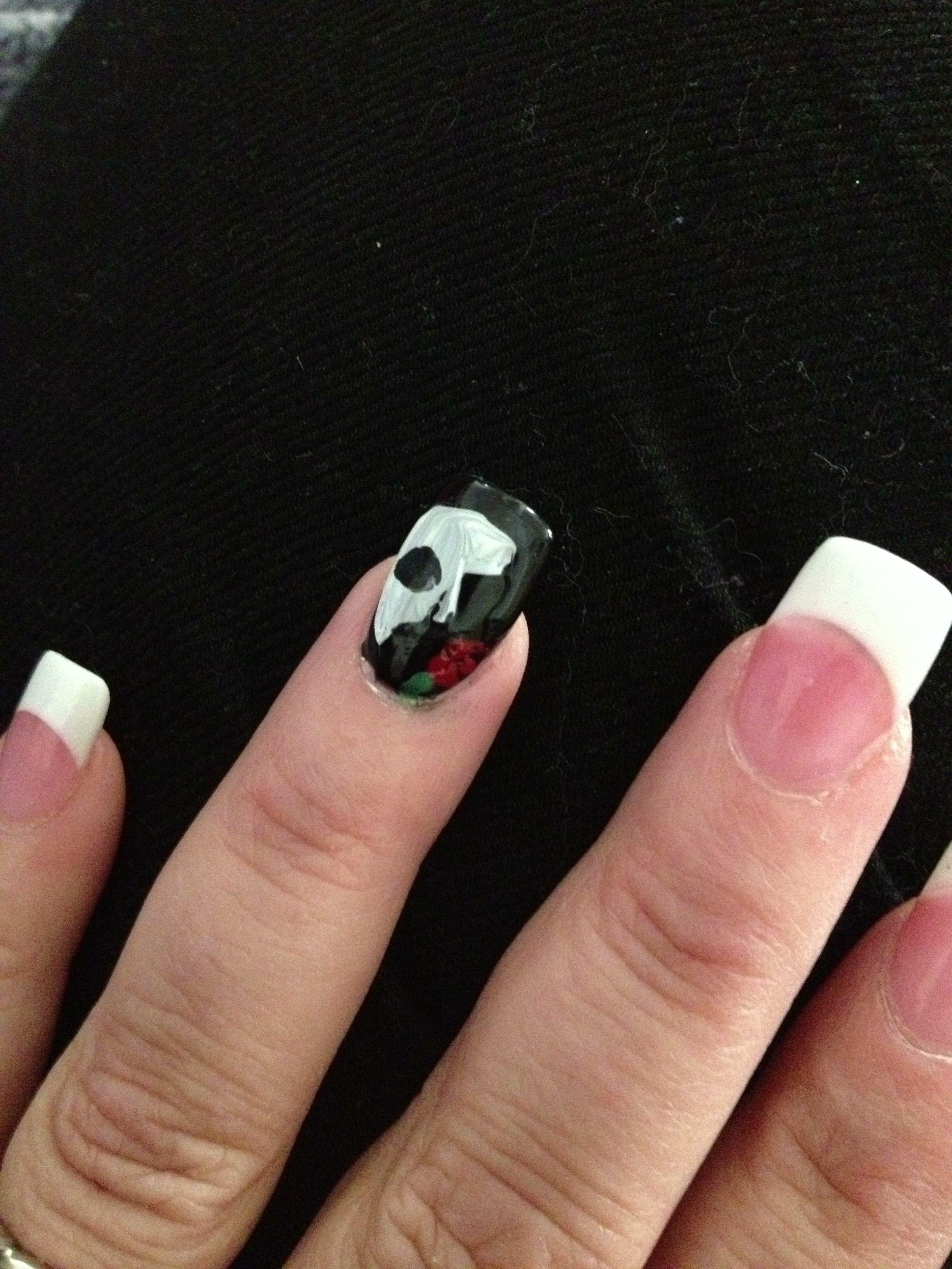 Phantom of the Opera - mask nail I did to celebrate the 21 run ...