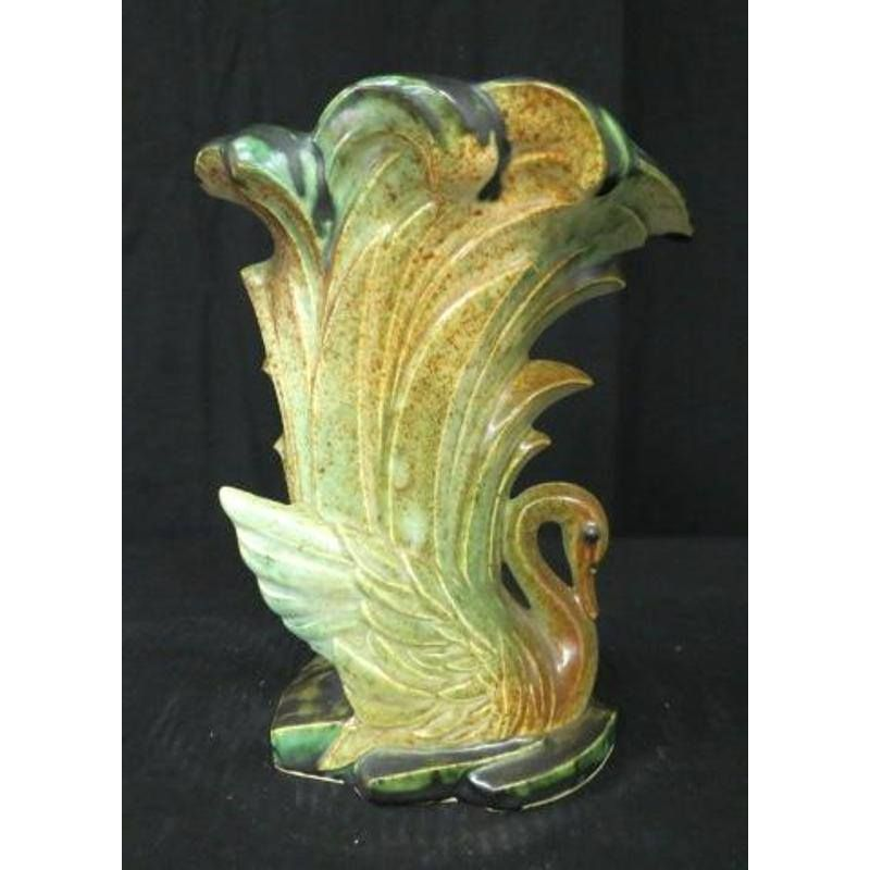 Mccoy Swan Vase Possible One Of A Kind Experimental Sold For 7k