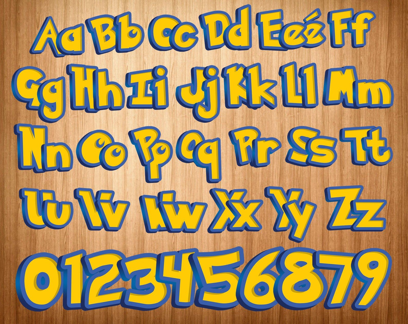 printable pokemon pokemon alphabet pokemon letters pokemon clipart pokemon font png digital pokemon pikachu cricut cut files instant