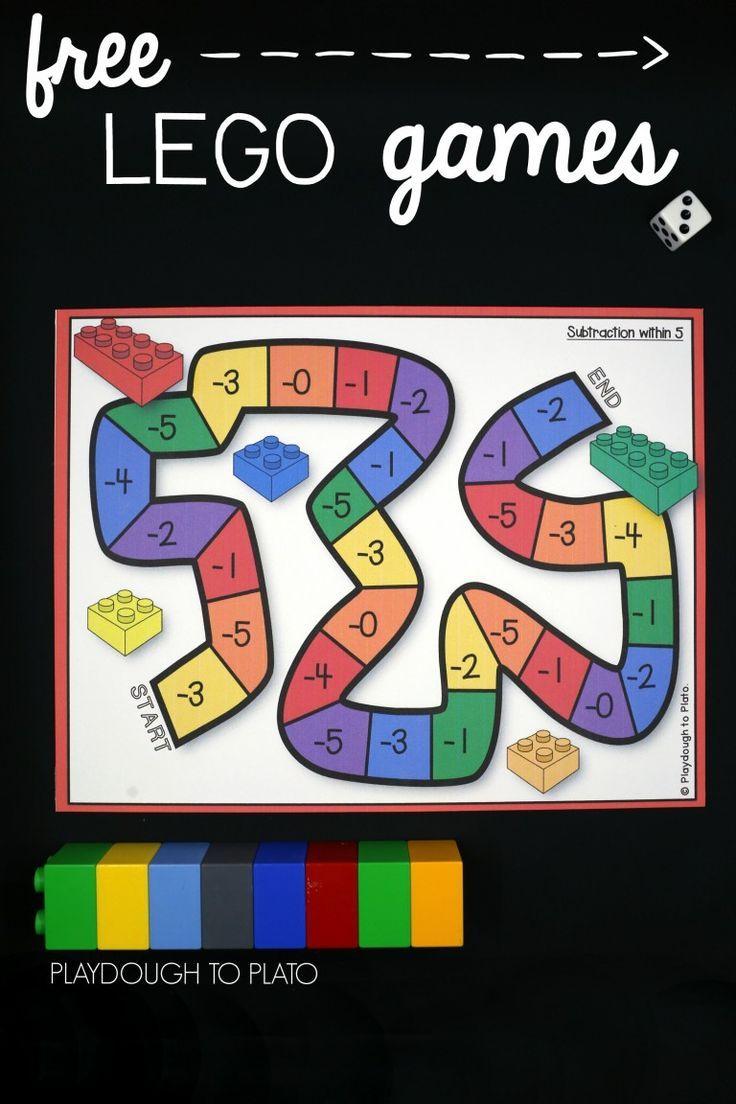 Lego Addition And Subtraction Kindergarten Math Games Math Games For Kids Lego Math Preschool math addition and subtraction