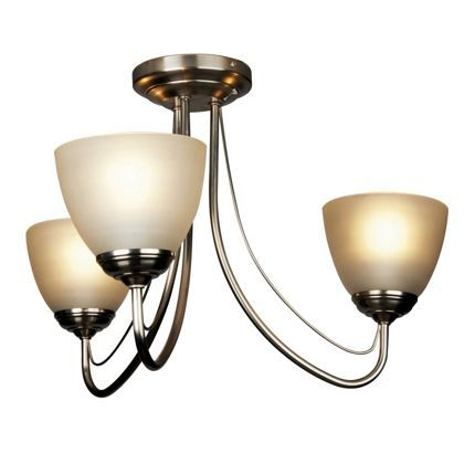 Rome light fitting satin nickel 3 light at homebase be inspired and make your house a home