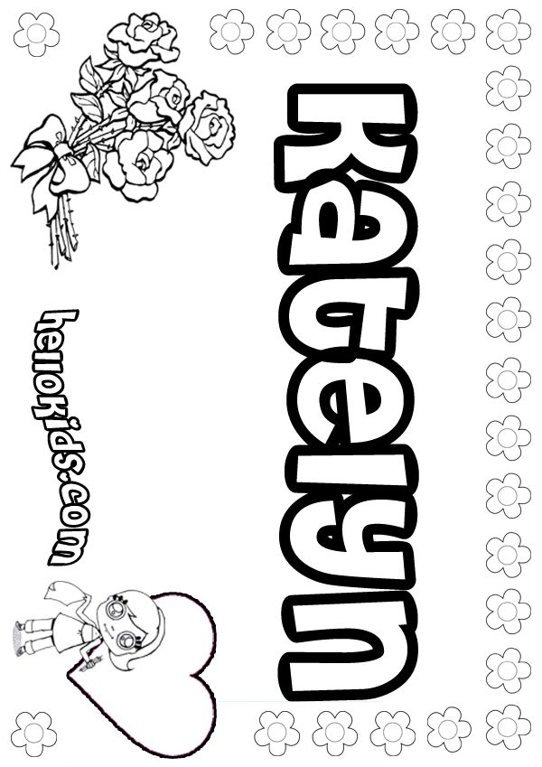 Girls Name Coloring Pages Katelyn Girly Name To Color Name Coloring Pages Coloring Pages To Print Coloring Pages