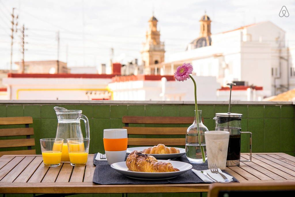 Enjoy breakfast with a view every morning from the terrace ...
