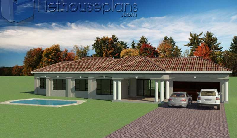 3 Bedroom House Plans South Africa One Storey House Nethouseplansnethouseplans House Plans South Africa House Plans With Photos My House Plans