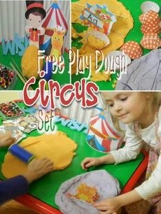 Free Circus Play Dough Set