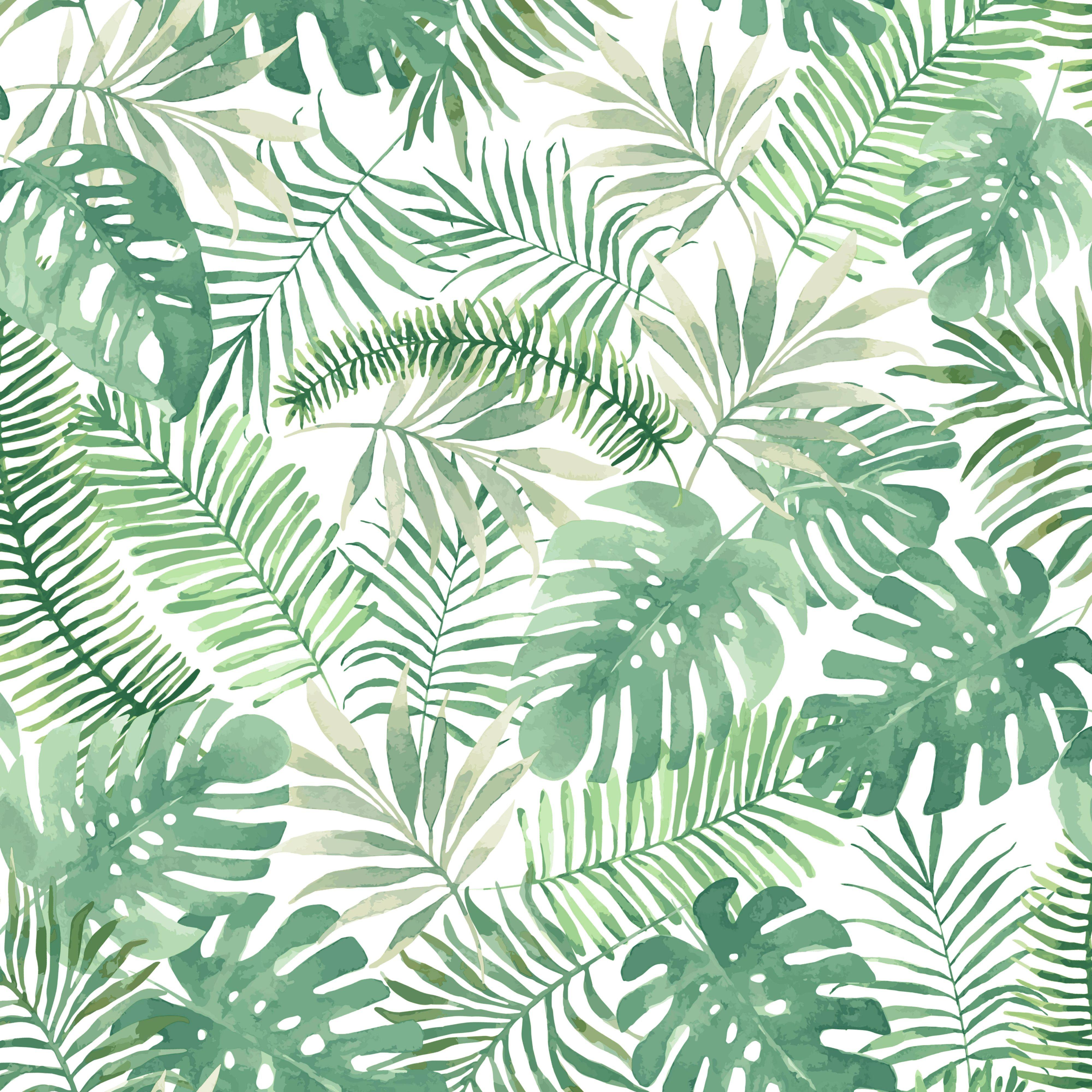 superfresco easy mauritius green leaves matt wallpaper On green wallpaper b q