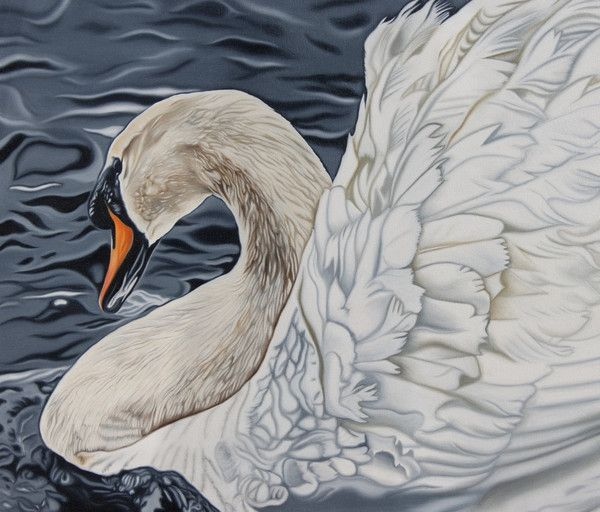 BY DAY A SWAN Oils on Canvas 70 x 60 cm. Shipping Included within the UK (excluding NI) Additional charges will apply for international orders. Once you have...