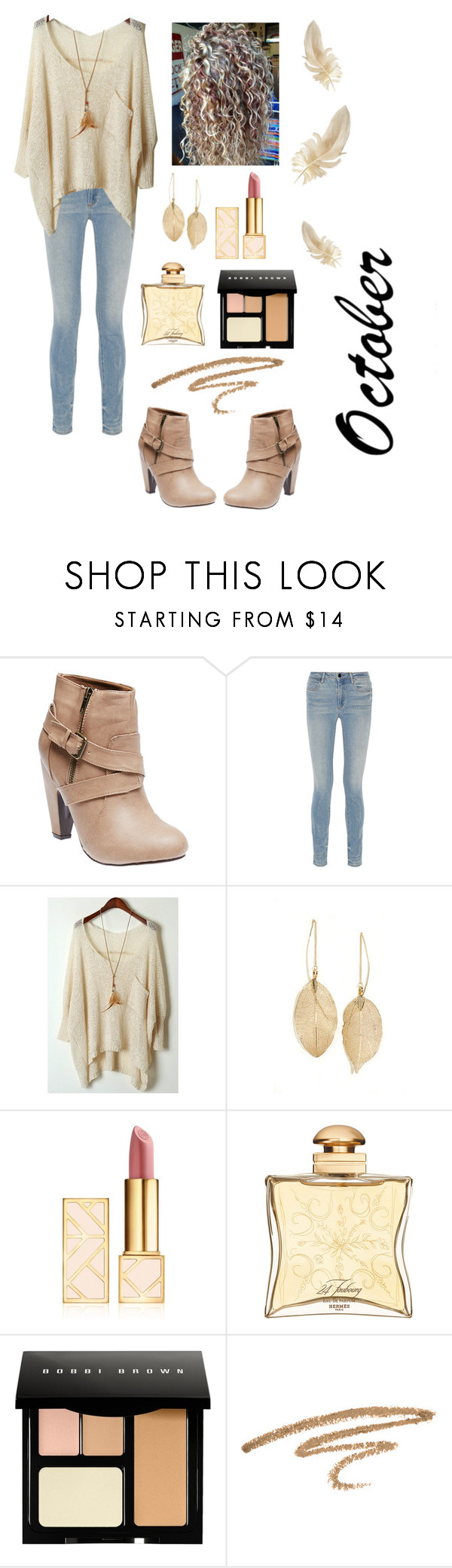 """October"" by brooklynn-olivia159 ❤ liked on Polyvore featuring Wet Seal, Alexander Wang, Lulu*s, Tory Burch, Hermès and Bobbi Brown Cosmetics"