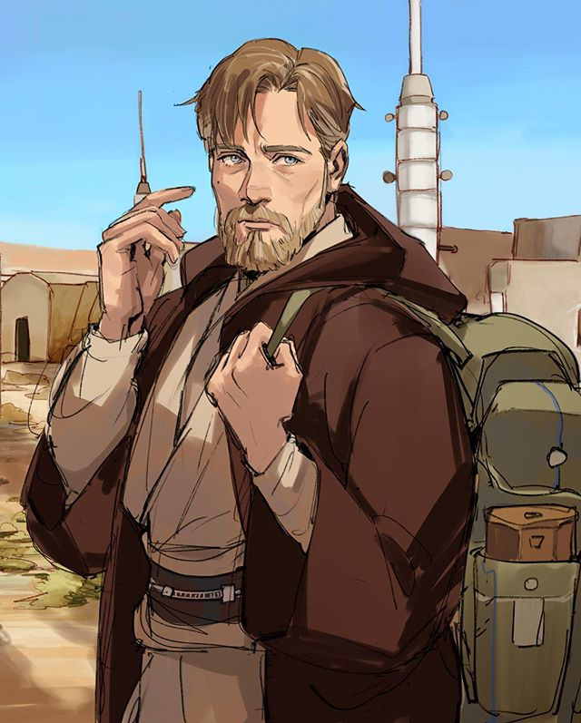 Obi Wan Looking Extra Daddy Here Art By Thisuserisalive Instagram In 2020 Star Wars Drawings Star Wars Characters Star Wars Jedi