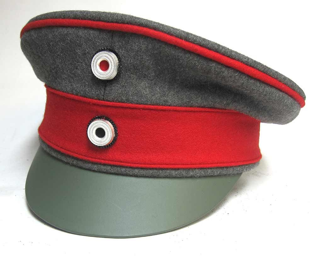 Reproduction WW1 Imperial German Model 1916 Wool Crusher Field Cap  (Schirmmützen) 75cbac8f837
