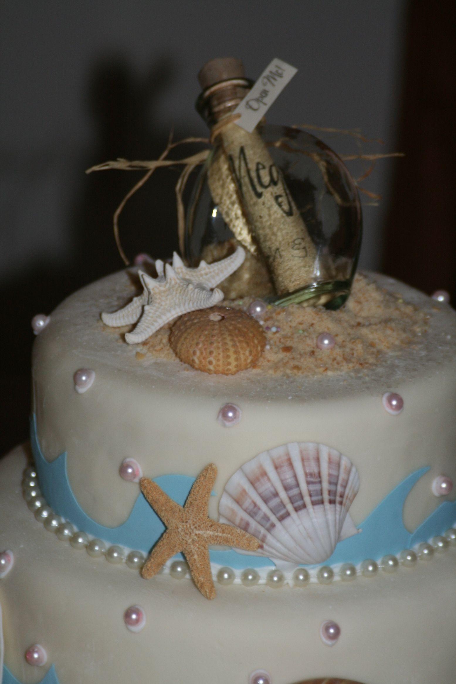 beach wedding cake cutter set