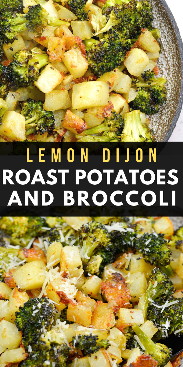 Lemon Dijon Roast Potatoes and Broccoli #health