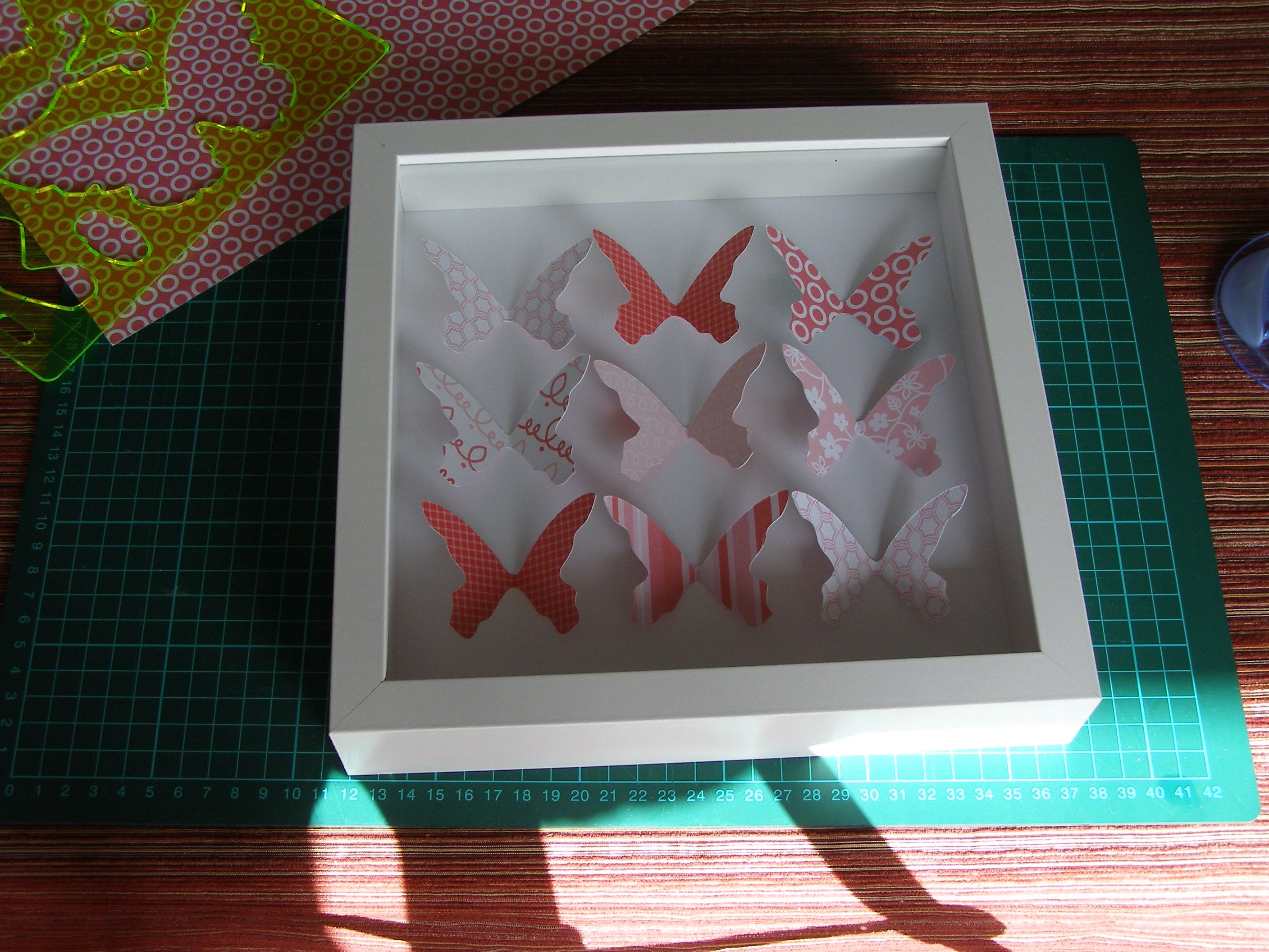 how to make paper butterfly shadow box | dioramas,shadow boxes ...
