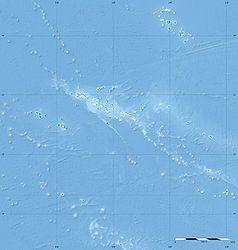 Mapa Lokalizacyjna Tahiti Polinezji Francuskiej Tahiti