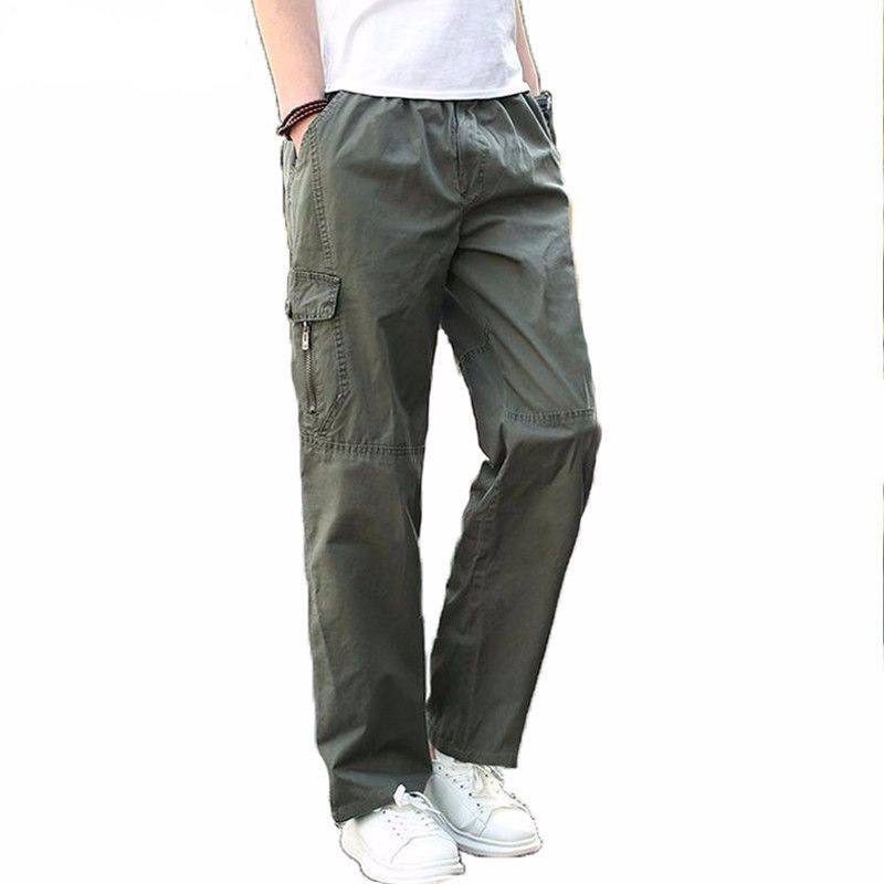 1c366ccac9f Men Cargo Pants Summer Overall Plus Size XXXL Baggy Army Green Loosely  Fitness Man Khaki Tactical Trousers Ashant. Item Type  Full Length Gender   Men Model ...