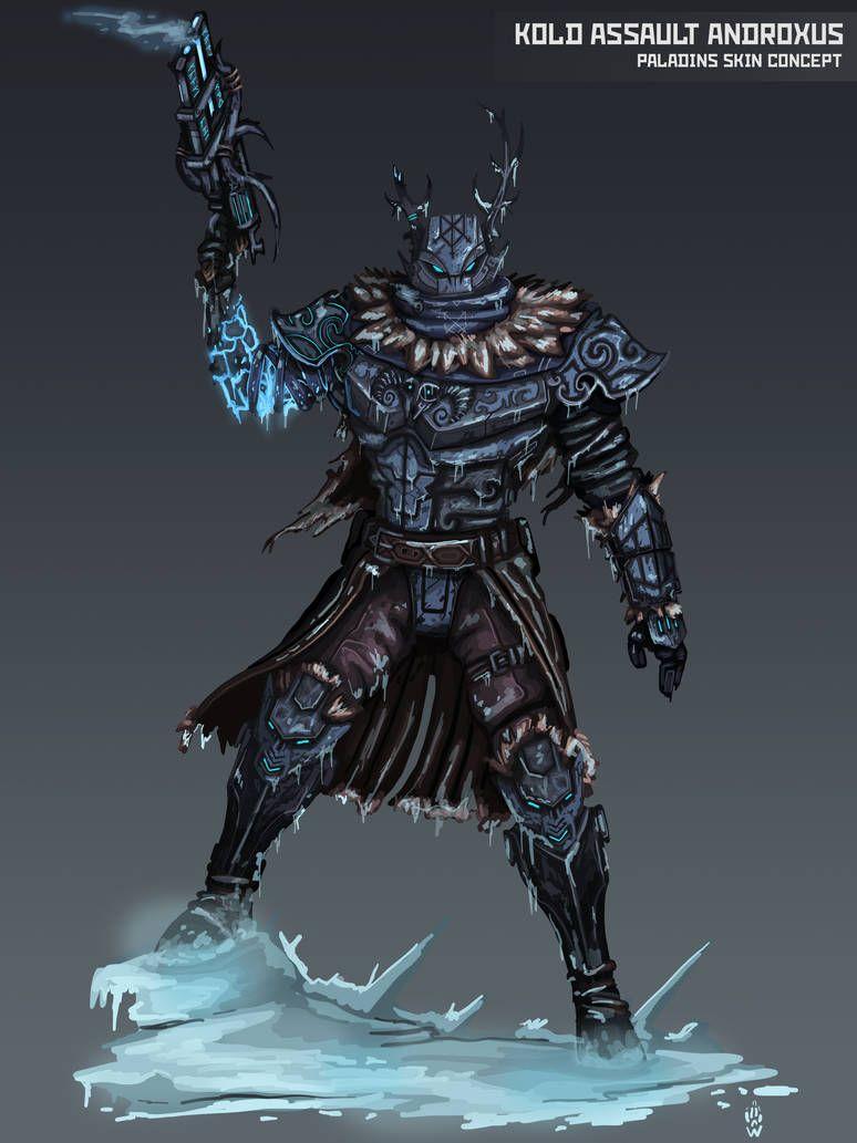 Kold Assault Androxus - Paladins Skin Concept by Wolfdog-ArtCorner   Paladin, Fiction idea, Game ...