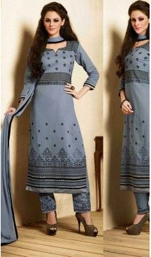 Adorable Gray Cotton Casual Salwar Kameez