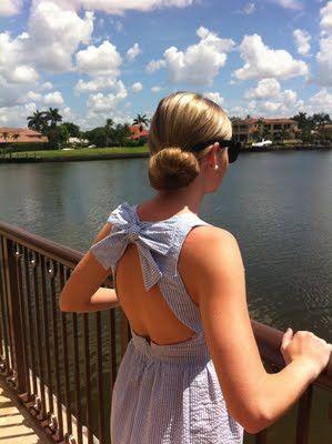 cute back of dress :)